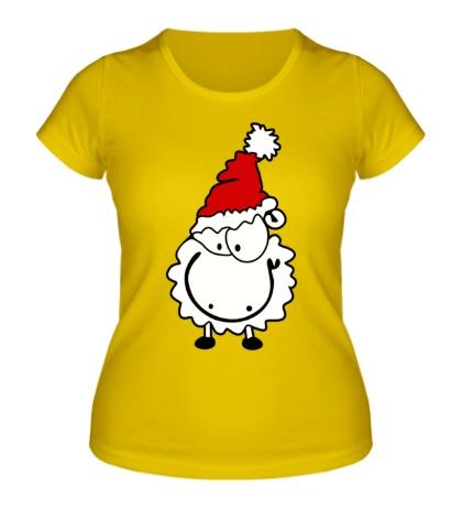 Женская футболка Счастливая овечка