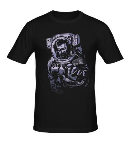 Мужская футболка Астронавт-зомби