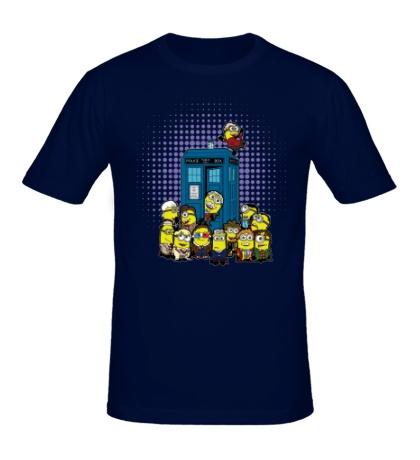 Мужская футболка Тардис Миньоны