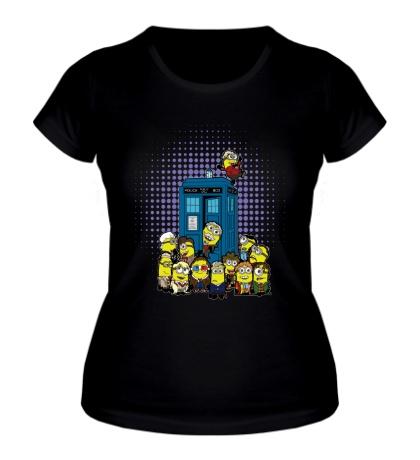 Женская футболка Тардис Миньоны