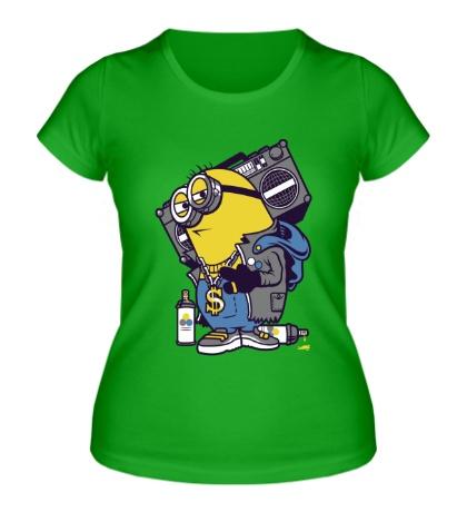 Женская футболка Миьнон хип-хопер
