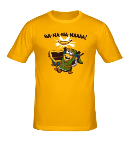 Мужская футболка Миньон, банановый воин