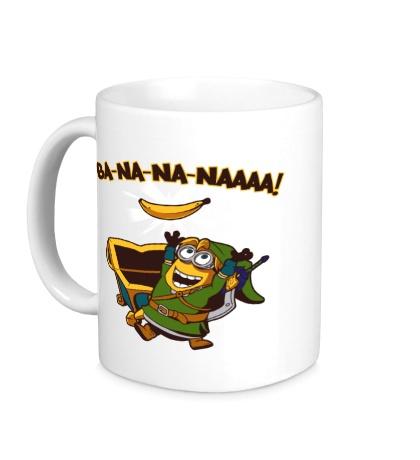 Керамическая кружка Миньон, банановый воин