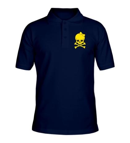 Рубашка поло Череп с бантиком