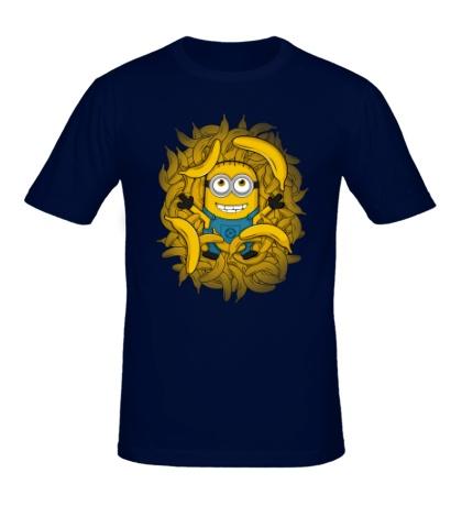Мужская футболка Миньон король бананов