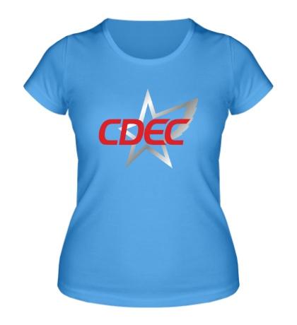 Женская футболка CDEC Team