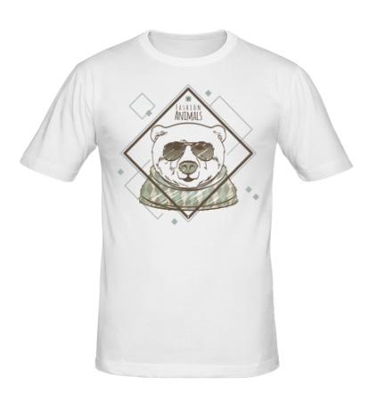Мужская футболка Модный медведь
