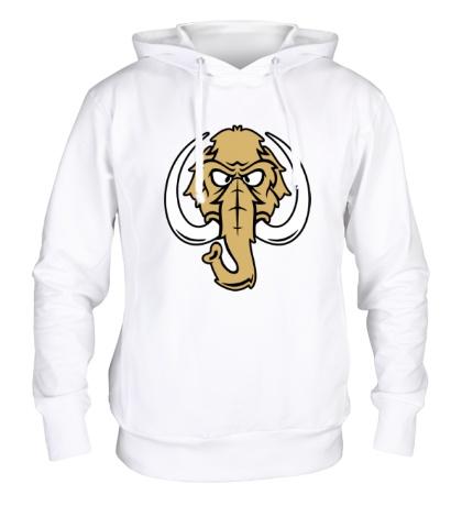 Толстовка с капюшоном Голова мамонта