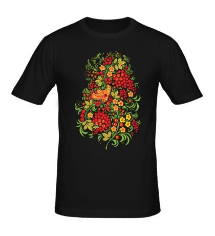 Мужская футболка Рябиновая хохлома