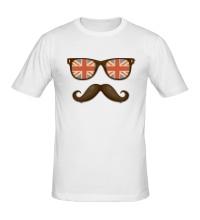 Мужская футболка Английский хипстер