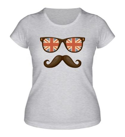 Женская футболка Английский хипстер