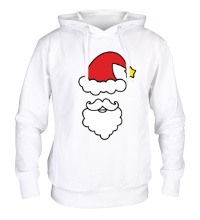 Толстовка с капюшоном Улыбка Деда Мороза