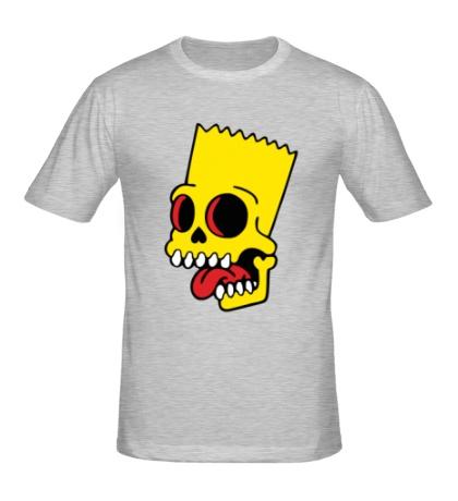 Мужская футболка Барт Симпсон зомби