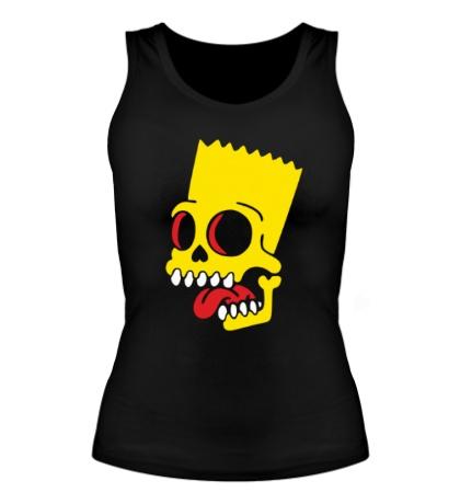 Женская майка Барт Симпсон зомби