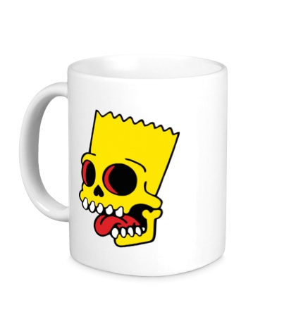 Керамическая кружка Барт Симпсон зомби