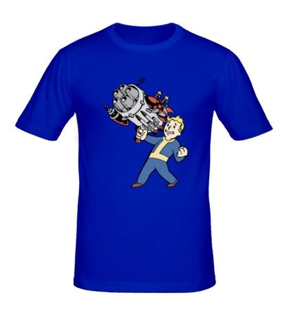 Мужская футболка Vault boy with a Big Gun
