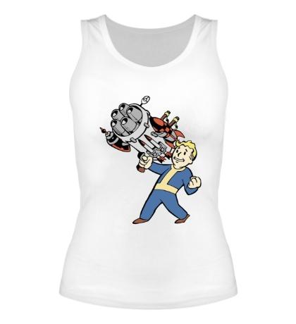 Женская майка Vault boy with a Big Gun
