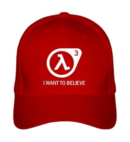Бейсболка Half-Life 3: I want to believe