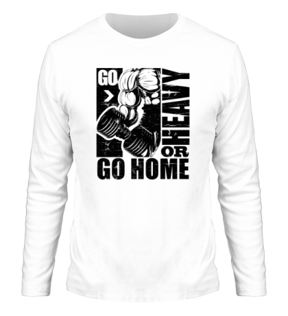 Мужской лонгслив «Go heavy or go home»