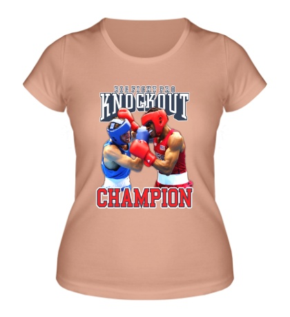 Женская футболка Knockout Champion
