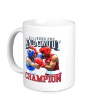 Керамическая кружка Knockout Champion