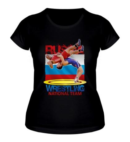 Женская футболка Russian Wrestling