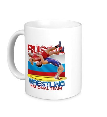 Керамическая кружка Russian Wrestling