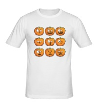 Мужская футболка Набор тыкв