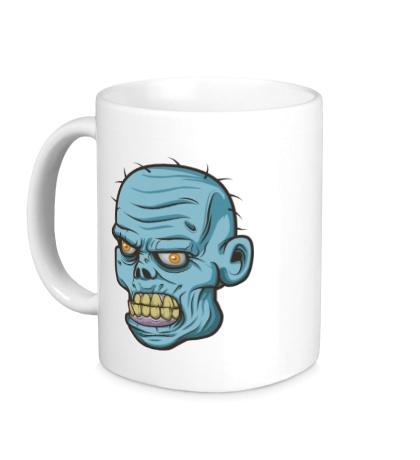 Керамическая кружка Голова зомби