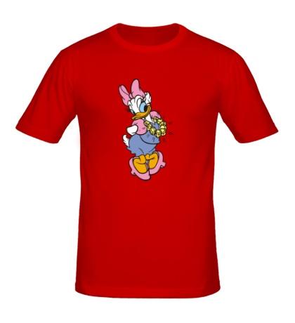 Мужская футболка Красивая Дейзи Дак