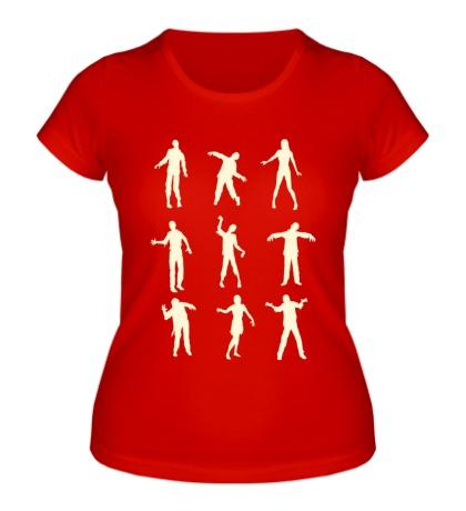 Женская футболка Движения зомби, свет