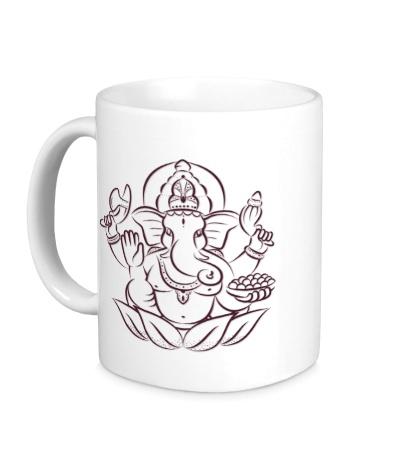 Керамическая кружка Индийский слон