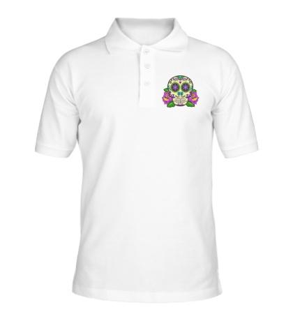 Рубашка поло Цветной череп