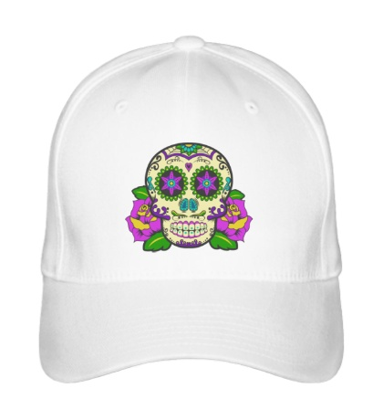 Бейсболка Цветной череп