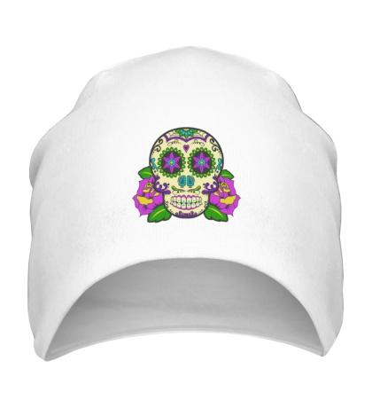 Шапка Цветной череп