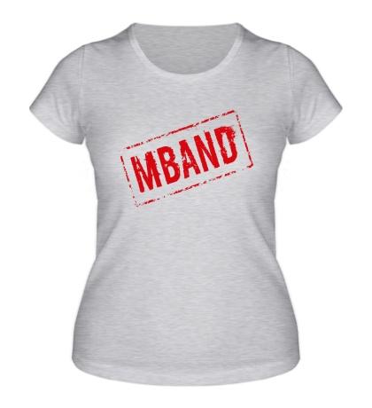 Женская футболка Mband logo