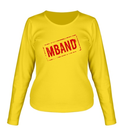 Женский лонгслив Mband logo