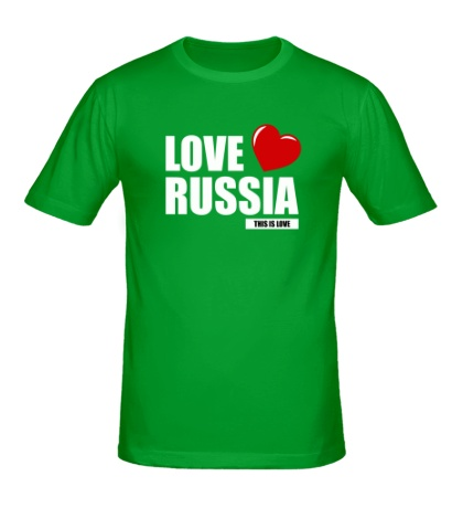 Мужская футболка Russia Love