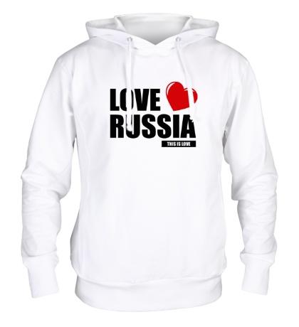 Толстовка с капюшоном Russia Love