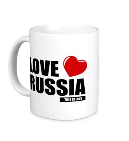 Керамическая кружка Russia Love
