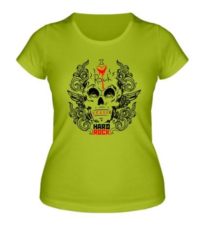 Женская футболка I love Hard Rock