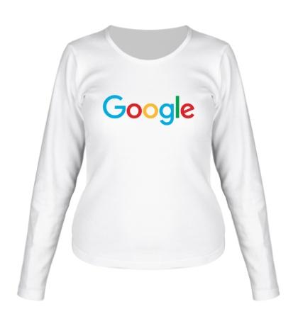 Женский лонгслив Google 2015