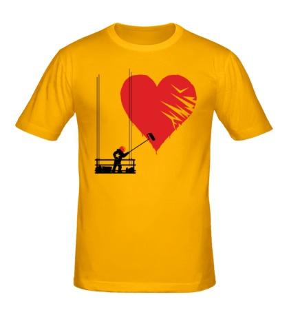 Мужская футболка Маляр любви