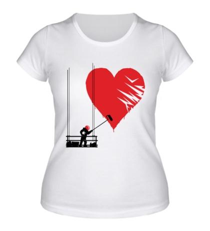 Женская футболка Маляр любви