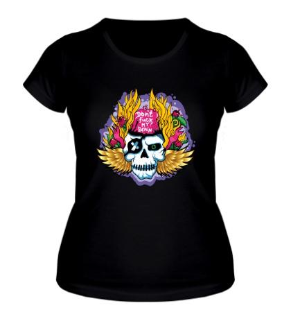 Женская футболка Dont fuck my brain