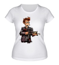 Женская футболка Фрай-террорист