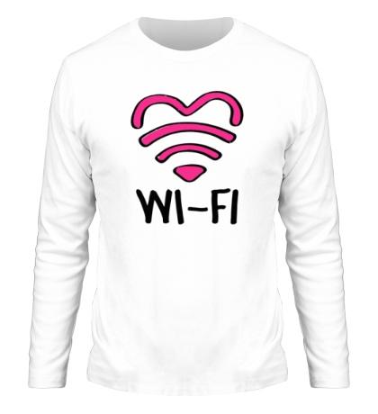 Мужской лонгслив WiFi heart