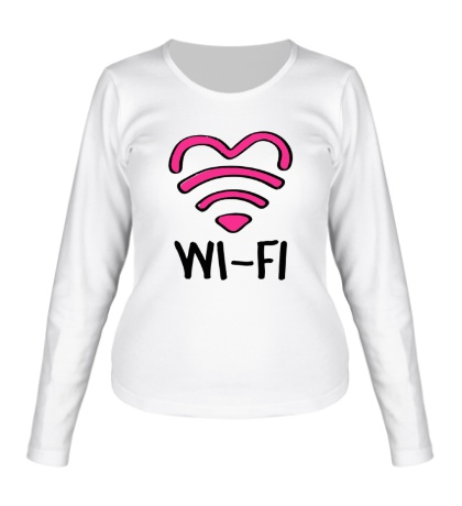 Женский лонгслив WiFi heart