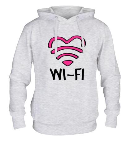 Толстовка с капюшоном WiFi heart