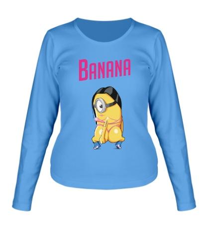 Женский лонгслив Banana Minion
